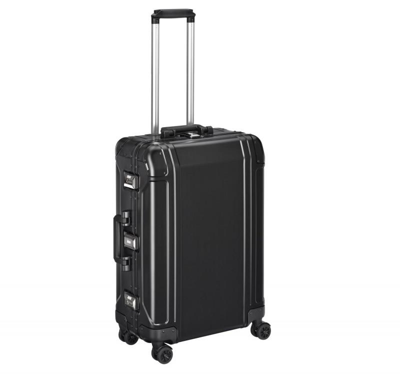 """Geo Aluminum 2.0 ZRG224-BK - 24"""" 4-колесный Черный Алюминиевый чемодан серии ГЕО2"""