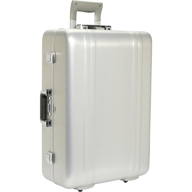 Серебристый чемодан из анодированного алюминия FREEWHEELER ZR26WT-SI
